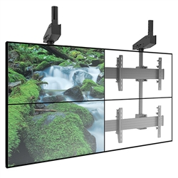 FUSION Large Quad TV Ceiling Mounts (2-over-2) for Displays up to 125 lbs.