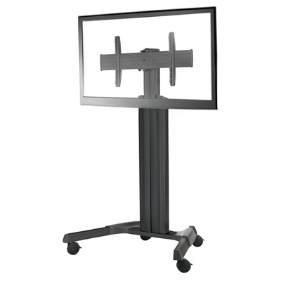 adjustable height cart fusion monitor cart and tv floor stand for 40 to 80 inch displays