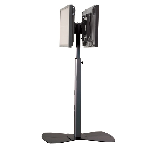 Back To Back Dual TV Floor Stand