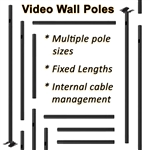 Video Wall Poles, Cut to Fit by Atdec