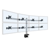 8 Monitor Mount - 4 over 4 Monitor Desk Mount (up to 30 lb monitors)