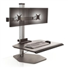 Dual Monitor Sit Stand Workstation