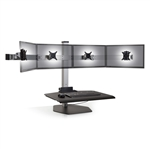 Four Monitor Sit Stand Workstation