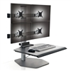 Four Monitor Sit Stand Workstation 2 over 2