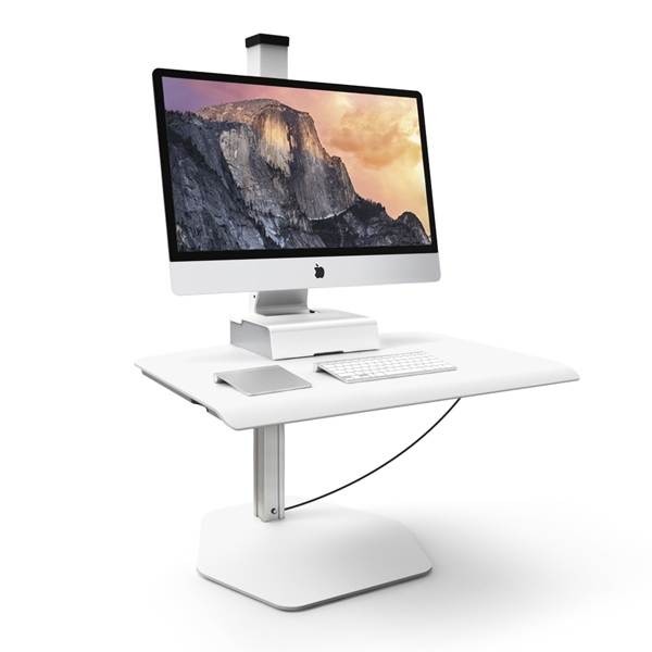 this sit stand workstation for a apple displays and imac computers