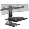 Electric Height Adjustable Triple Monitor Standing Desk