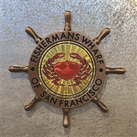 San Francisco Fisherman's Wharf Ships Wheel Magnet