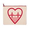 I Heart SF Zipper Culk Pouch Natural