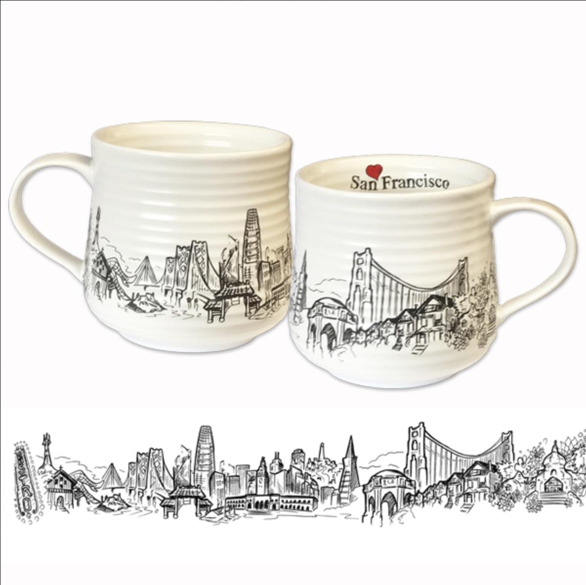 Heart In San Francisco Coffee Mug By Sf Mercantile