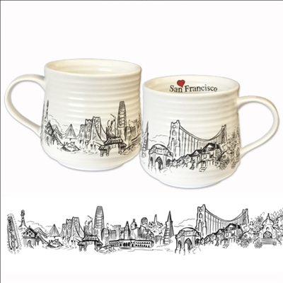Heart in San Francisco Coffee Mug by SF Mercantile