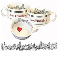 San Francisco Soup or Cappucino Oversized Mug by SF Mercantile