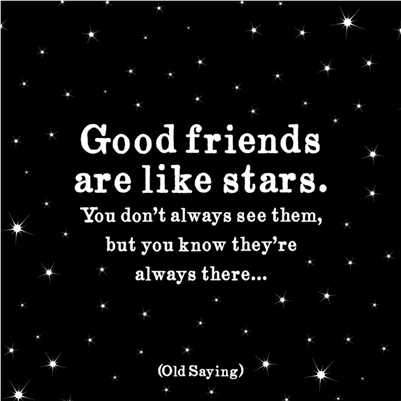 Good Friends are like Stars greeting card by Quotable