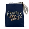 Groceries Shit Navy Tote Bag
