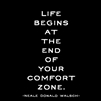 Life Begins at the End of Your Comfort Zone greeting card by Quotable