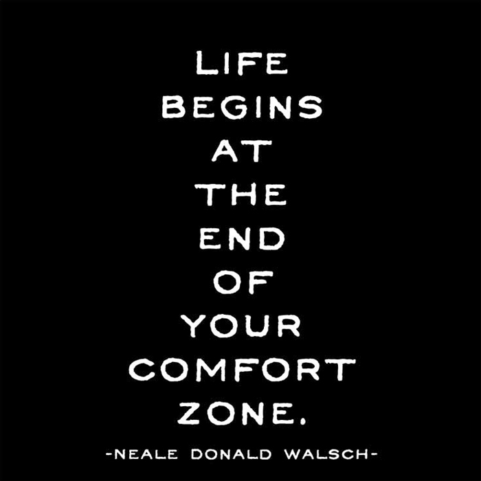 Life begins at the end of your comfort zone greeting card by quotable m4hsunfo