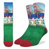 San Francisco Socks with the Marina Green by Good Luck Socks