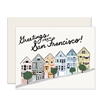 Greetings from San Francisco Painted Ladies greeting card
