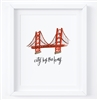 Golden Gate Bridge, City By The Bay, San Francisco 8x10 Art Print