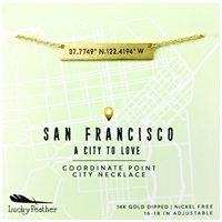 Lucky Feather City Coordinate Necklace San Francisco