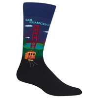 Hot Sox Men's Golden Gate Bridge Sock