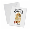 Happy Birthday Pretty Lady Greeting Card