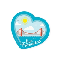 SF Heart Scene Sticker