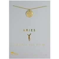 Lucky Feather Aries Zodiac Necklace