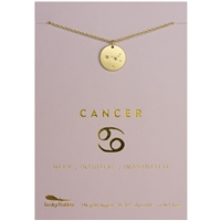 Lucky Feather Cancer Zodiac Necklace