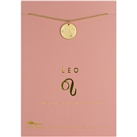 Lucky Feather Leo Zodiac Necklace