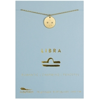 Lucky Feather Libra Zodiac Necklace