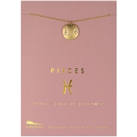 Lucky Feather Pisces Zodiac Necklace