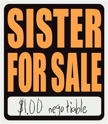 Sister for Sale shirt adult grass
