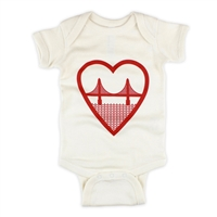 Heart Golden Gate Bridge Culk Bodysuit