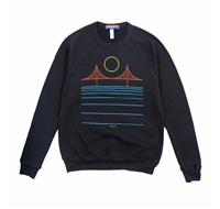 Minimal Bridge Color Crewneck Sweatshirt Black by Culk