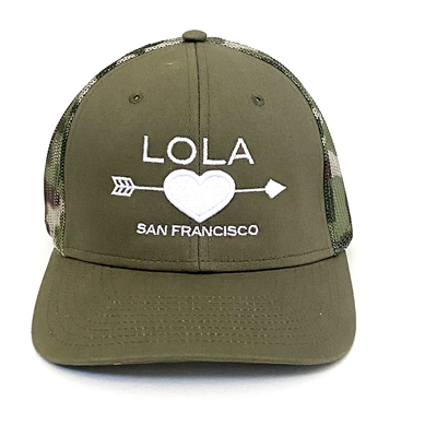 LOLA trucker hat camp