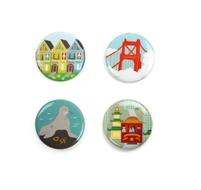 Seltzer San Francisco Sites Magnet Set