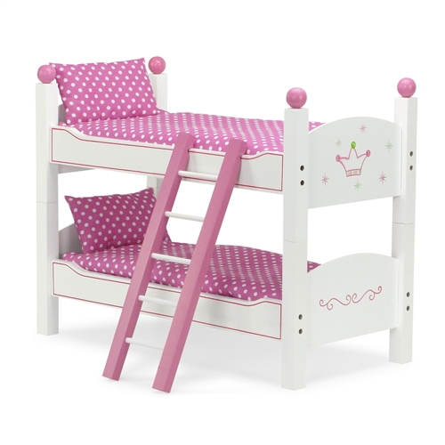 18 Inch Doll Furniture Stackable Bunk Bed With Ladder Fits American Girl Dolls