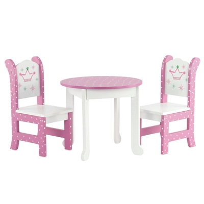 18-inch Doll Furniture - Table and 2 Chairs - fits American Girl ® Dolls
