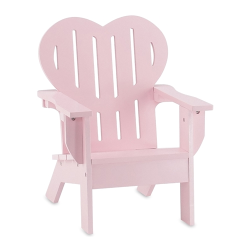 18 Inch Doll Furniture Pink Adirondack Chair Fits American Girl Dolls