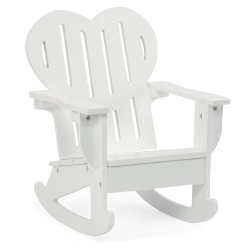 18-Inch Doll Furniture - White Adirondack Rocking Chair - fits ...