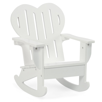 18-Inch Doll Furniture - White Adirondack Rocking Chair - fits American Girl ® Dolls
