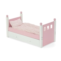 18 Inch Doll Furniture   Single Bed With Trundle   Fits American Girl ®  Dolls ...