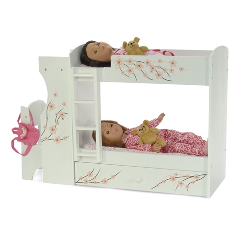 18 Inch Doll Furniture Bunk Bed With Built In Desk And Chair