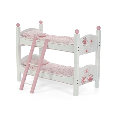 18 Inch Doll Furniture Stackable Bunk Bed with Ladder