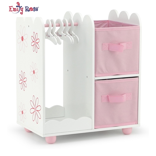 Beau 18 Inch Doll Furniture   Open Wardrobe Closet   Fits American Girl ® Dolls