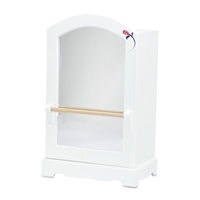 18-Inch Doll Furniture - Mirrored Closet with Ballet Barre - fits American Girl ® Dolls