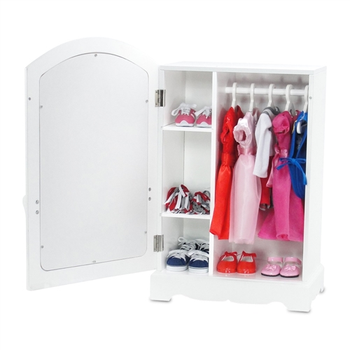 18 Inch Doll Furniture   Mirrored Closet With Ballet Barre   Fits American  Girl ® Dolls