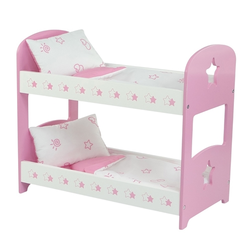 18 Inch Doll Furniture Star Themed Pink Bunk Bed With Bedding Fits American Girl Dolls