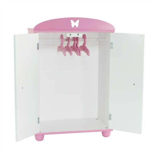 18 Inch Doll Furniture   Butterfly Collection Armoire (Includes 5 Clothes  Hangers)   Fits American Girl ® Dolls