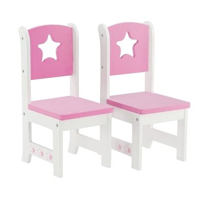 18-inch Doll Furniture - Star Collection 2 Chair Dining Set - fits American Girl ® Dolls